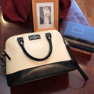 Authentic Kate Spade Rachelle Bag. Cream & Black.